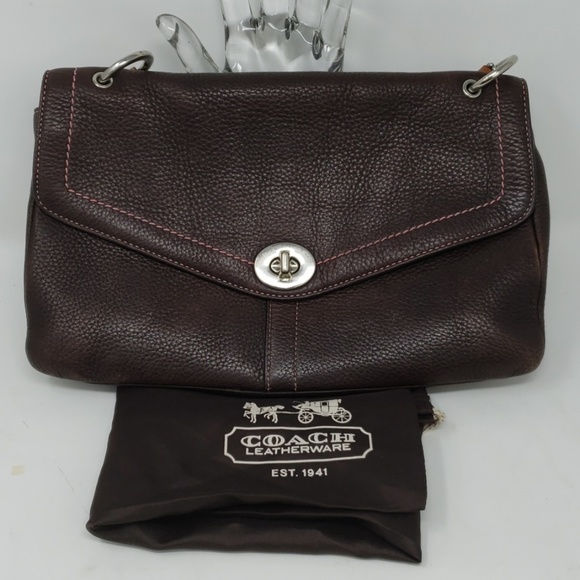 Coach Handbags - Coach Chelsea Brown Leather Bag with Dust Bag